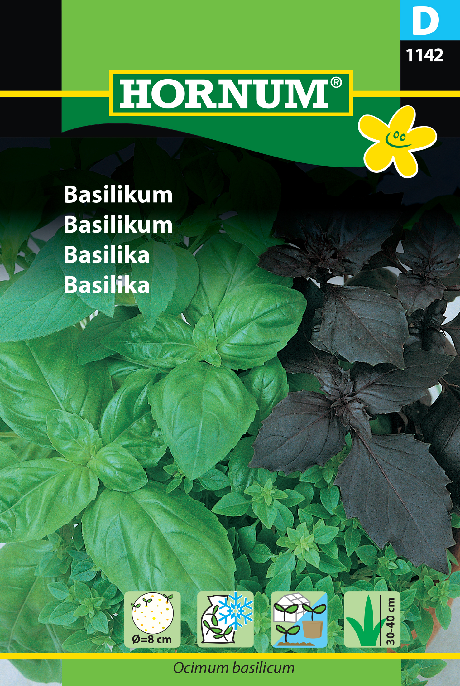 Basilika, (såplatta) Mix -4 sorter