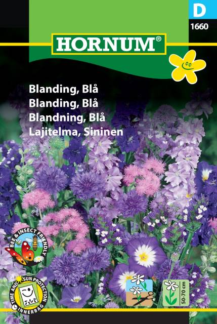 Blomsterblandning, Blå