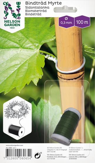 Bindtråd Myrte, Grön 0,3mm x 100m