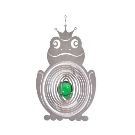 Vindspel Groda 35 mm Grön Glaskula