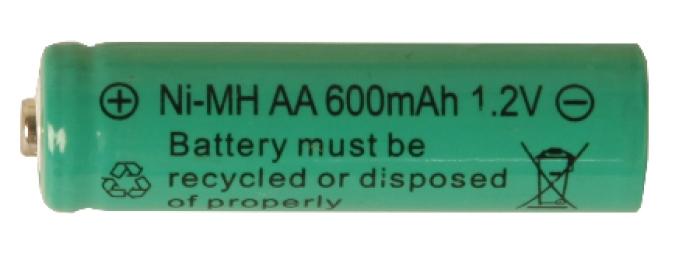 Batteri: AA 1,2V Ni-mh 600mAh