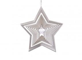 Vindspel Stjärna m. 28 mm kristallstjärna