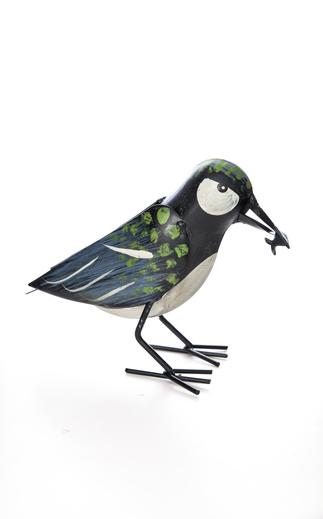 Fågel Grön/Svart/Blå