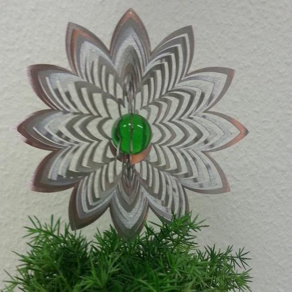 Vindspel Azalea 35 mm grön Glaskula