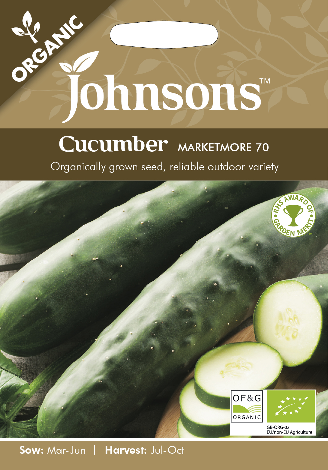 Frilandsgurka 'Marketmore 70' Organic