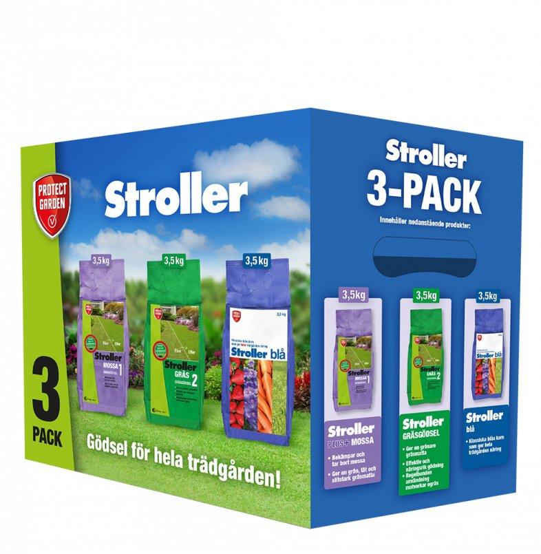 Stroller Gödning 3-pack Mix