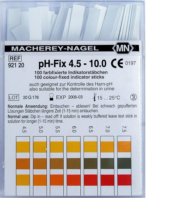 92120 / pH-stickor 4,5-10  100 st