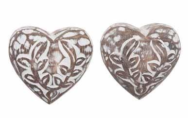 Hjärta mönster runt i trä