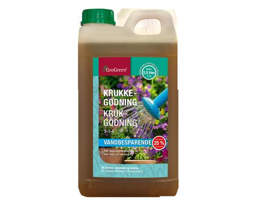GroGreen® Krukgödsel 5-1-4 med Aqua Saver 2,5L