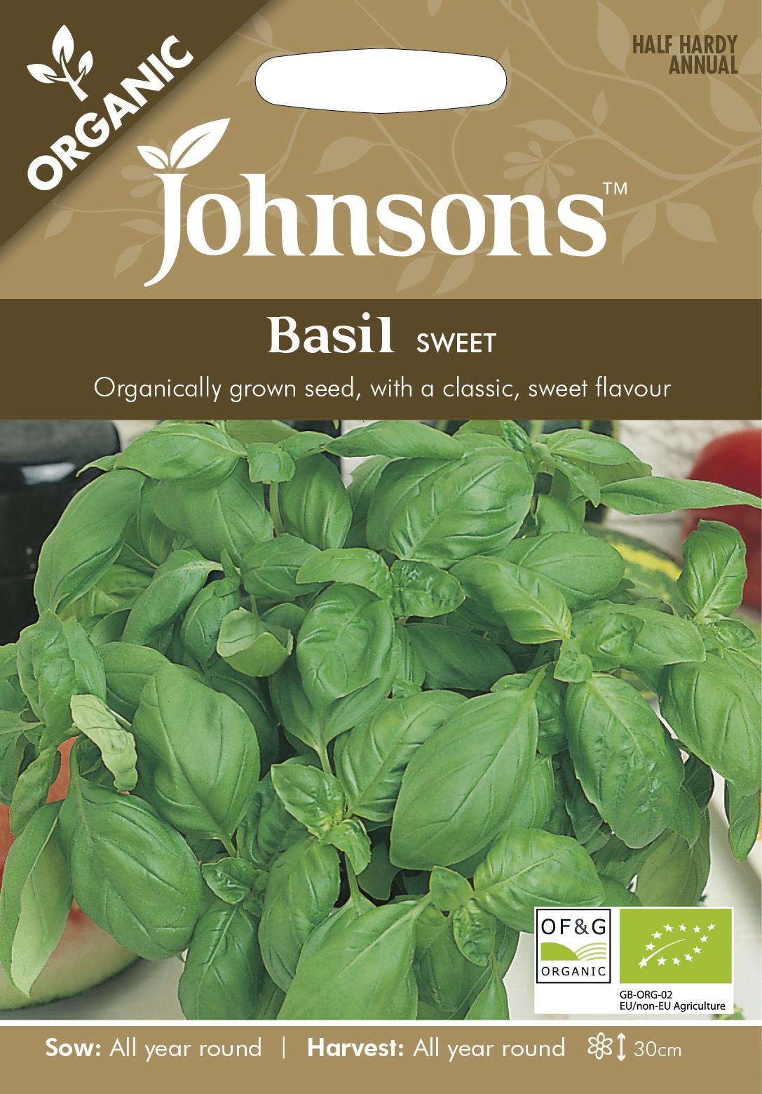 Basilika 'Sweet' Organic