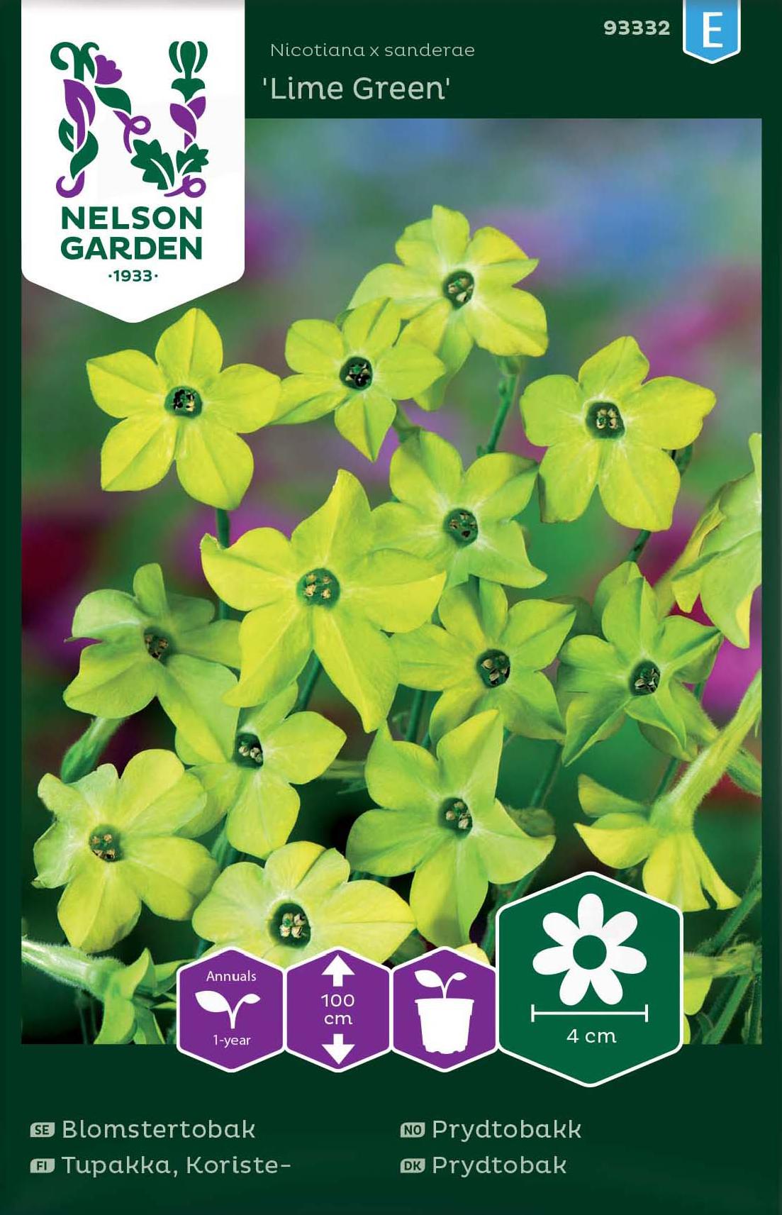 Blomstertobak, Lime Green