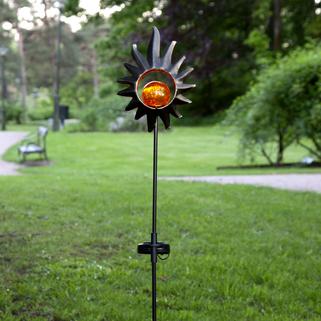 Melilla Sol på pinne med amber glaskula, solcell