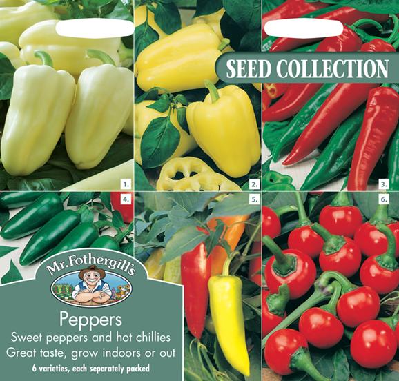 Chili & Paprika collection 6 sorter