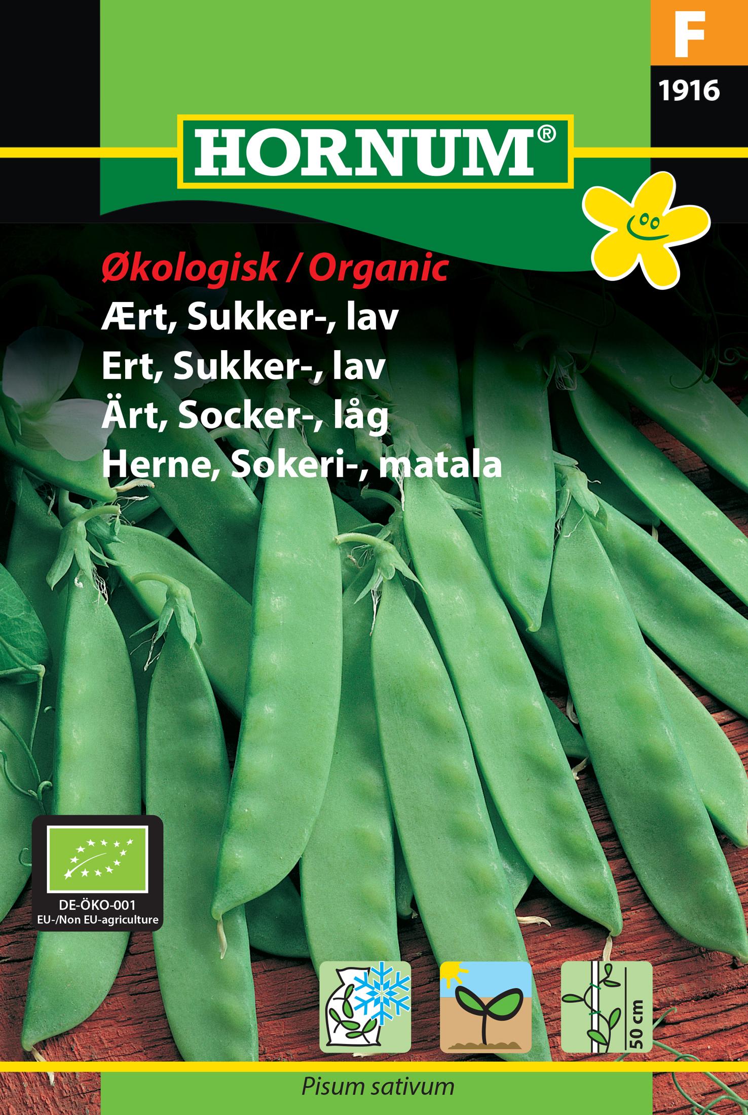 Ärt, Socker-, låg 'Norli' Organic