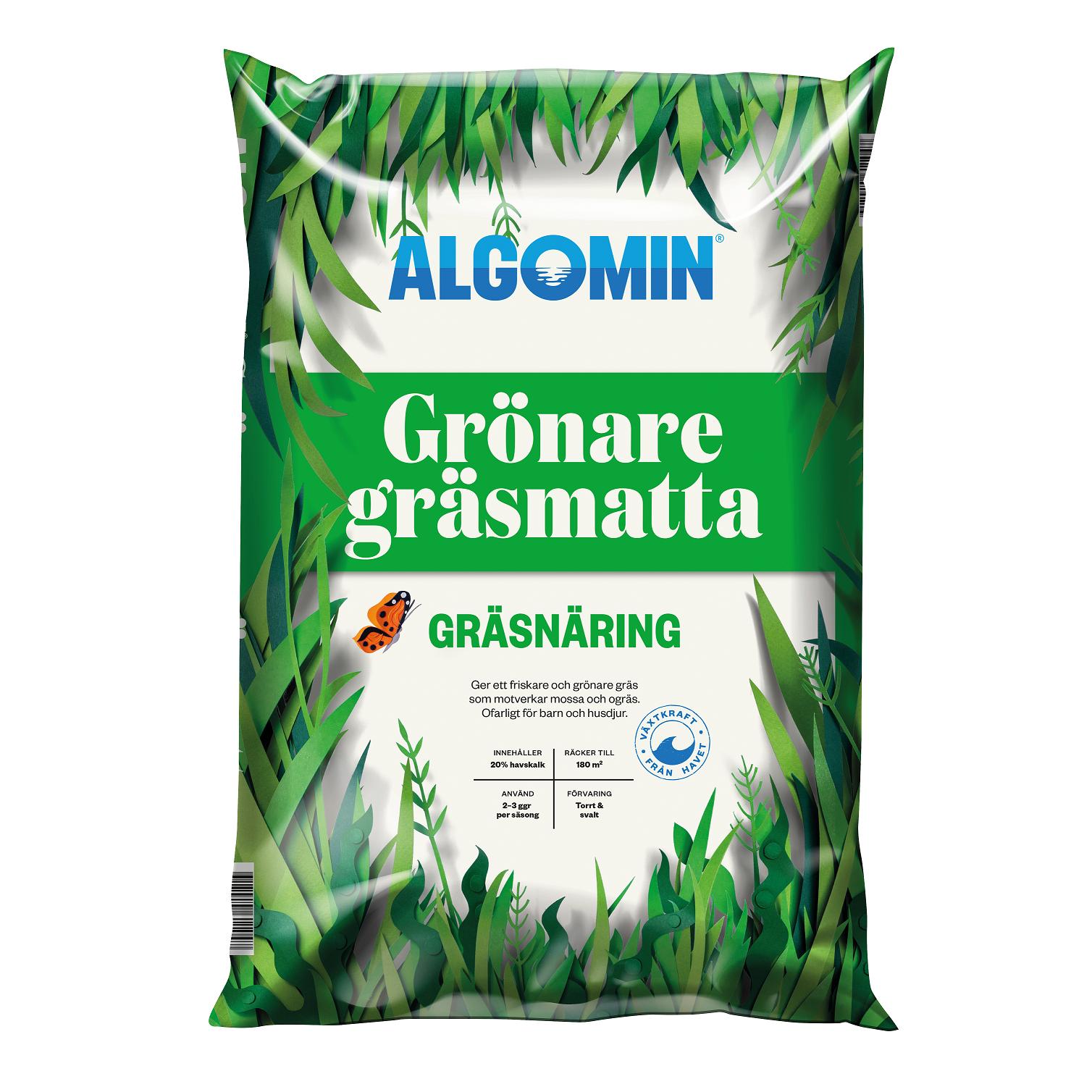 Algomin Gräsnäring 'Grönare Gräsmatta' 8kg