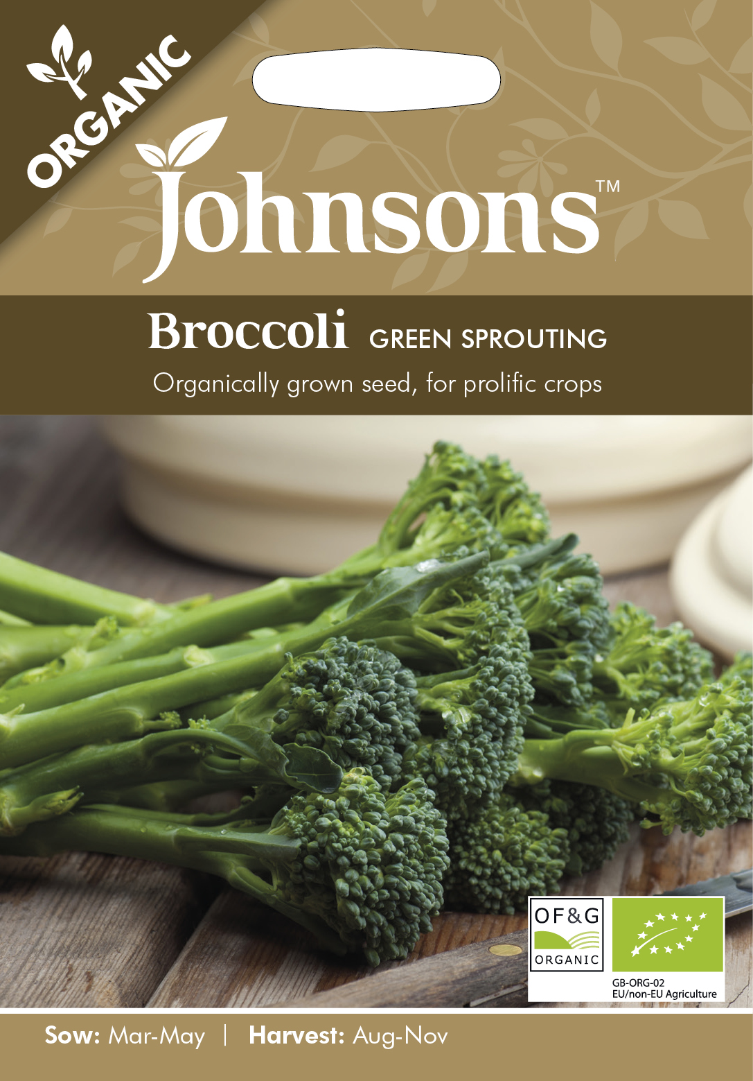 Broccoli  'Green Sprout' Organic