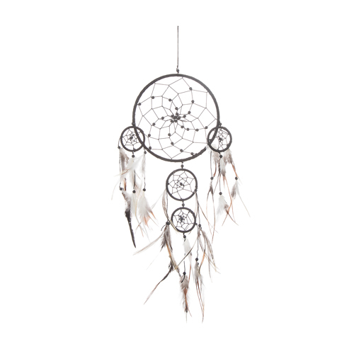 Drömfångare med Pärlor 16x50 cm Svart