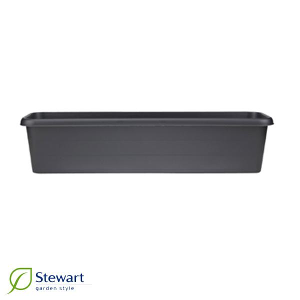 Balkonglåda 40 cm, svart