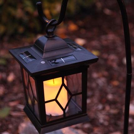 Svart lykta LED, solpanel