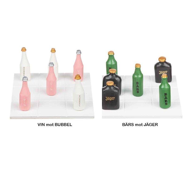 Brädspel 'Tre i Rad'- Bubbel vs Vin