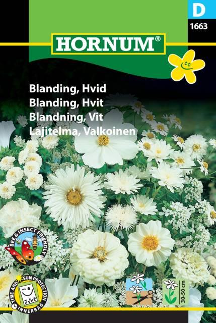 Blomsterblandning, Vit